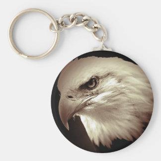 Sepia Color Bald Eagle Keychain