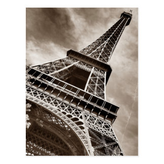 Sepia Color Eiffel Tower Paris Postcard