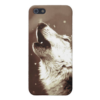 Sepia Color Howling Wolf iPhone 5 Case