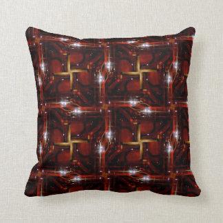 Sepia color Stars Throw Pillows