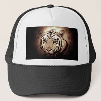 Sepia Color Tiger Trucker Hat