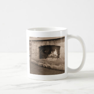 Sepia Country Fireplace Photo Coffee Mug