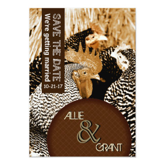 Sepia Country Wedding Save the Date Cards