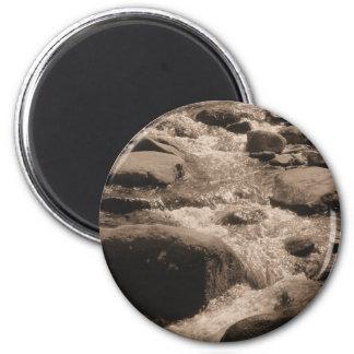 Sepia Creek Photo 2 Inch Round Magnet