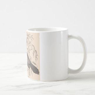 Sepia Crow Coffee Mug