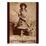 Sepia de Annie Oakley Postal