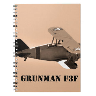 Sepia de Grumman F3F Guerra mundial 2 Libros De Apuntes
