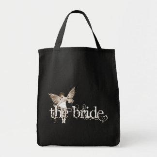 Sepia de hadas del vestido blanco - la novia bolsas de mano