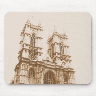 Sepia de la arquitectura de Inglaterra Alfombrillas De Raton