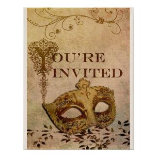 Sepia de la invitación del renacimiento