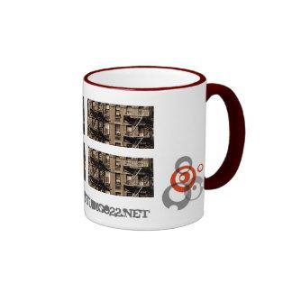 sepia de las escaleras del soho tazas de café