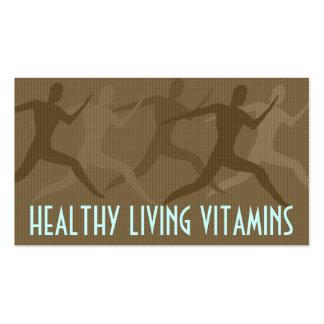 """Sepia de las """"vitaminas vivas sanas"""" plantillas de tarjetas de visita"""