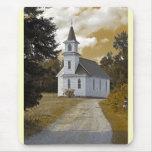 Sepia de los 1800s de la iglesia presbiteriana de alfombrilla de ratón