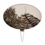 Sepia de madera del árbol del cielo de la cúpula d figura para tarta