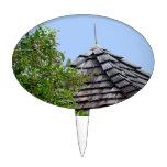 Sepia de madera del árbol del cielo de la cúpula d decoraciones para tartas