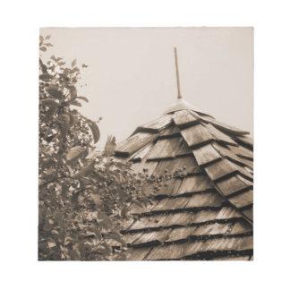Sepia de madera del árbol del cielo de la cúpula d blocs de notas
