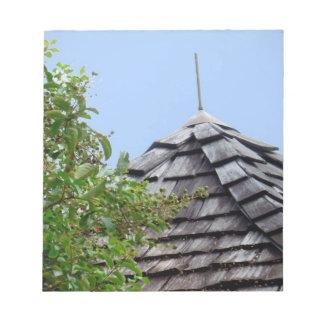 Sepia de madera del árbol del cielo de la cúpula d bloc