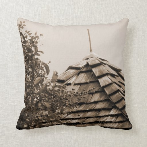 Sepia de madera del árbol del cielo de la cúpula d cojin