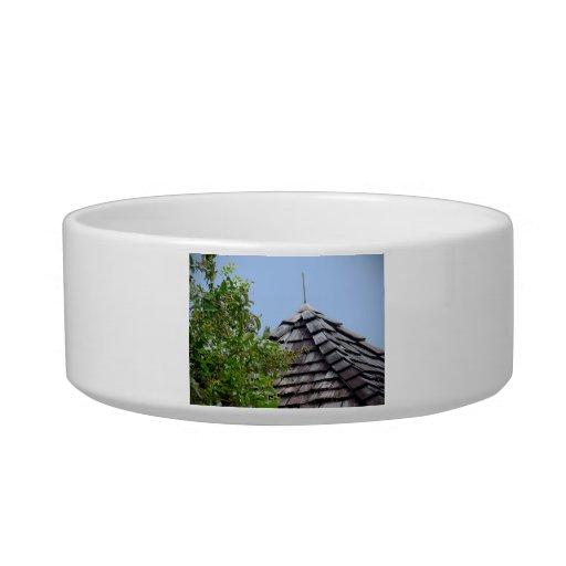Sepia de madera del árbol del cielo de la cúpula d tazón para agua para gatos