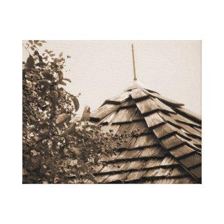 Sepia de madera del árbol del cielo de la cúpula d lona estirada galerias