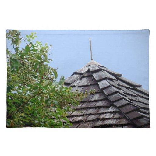 Sepia de madera del árbol del cielo de la cúpula d mantel individual