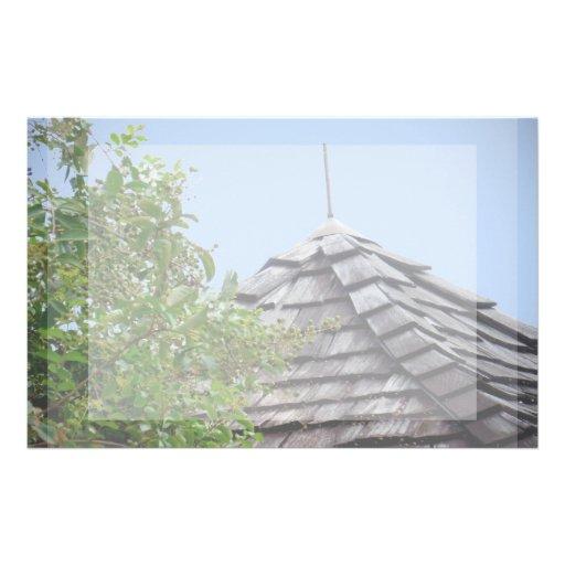 Sepia de madera del árbol del cielo de la cúpula d  papeleria