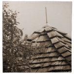 Sepia de madera del árbol del cielo de la cúpula d servilletas de papel