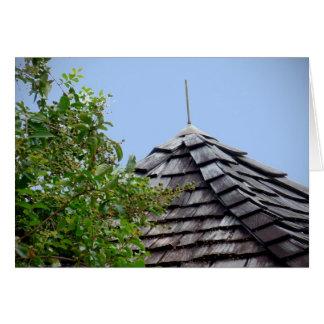 Sepia de madera del árbol del cielo de la cúpula tarjeta pequeña