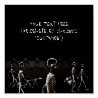Sepia de medianoche del negro del paseo de los esq impresiones