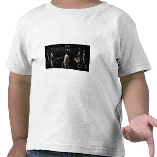 Sepia de medianoche del negro del paseo de los esq camisetas