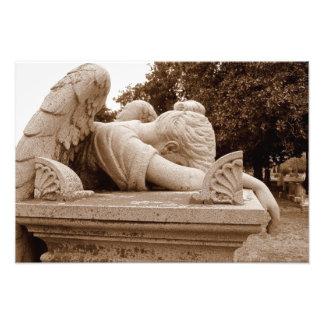 Sepia de Photogrpah del ángel que llora Arte Fotográfico
