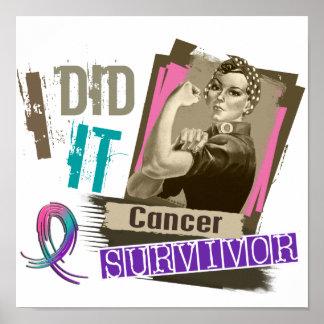 Sepia de Rosie la hice cáncer de tiroides Poster