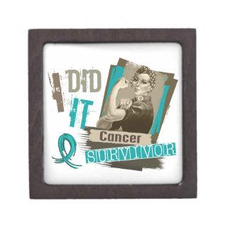 Sepia de Rosie la hice cáncer ovárico Cajas De Joyas De Calidad