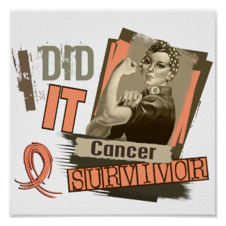 Sepia de Rosie la hice cáncer uterino Posters