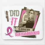 Sepia de Rosie la hice el pecho Cancer.png Alfombrillas De Ratón