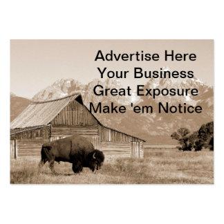 Sepia del bisonte/del granero tarjeta de visita