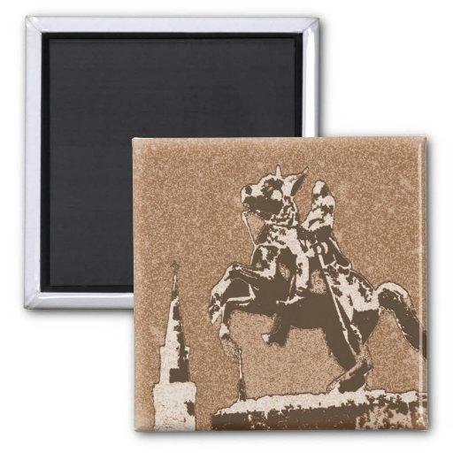 Sepia del caballo de Jackson Imanes De Nevera