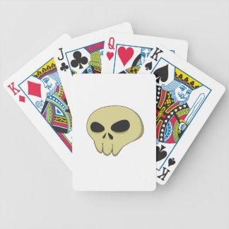 Sepia del cráneo del dibujo animado baraja de cartas bicycle
