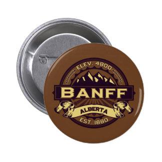Sepia del logotipo de Banff Pin Redondo 5 Cm