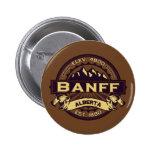 Sepia del logotipo de Banff Pin Redondo De 2 Pulgadas