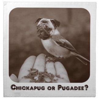 ¿Sepia divertida Chickapug o Pugadee? Servilleta