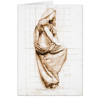 Sepia Drapery Study 1896 Card