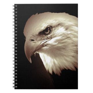 Sepia Eagle calvo Libros De Apuntes