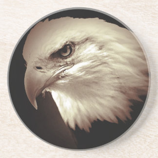 Sepia Eagle calvo Posavasos Para Bebidas