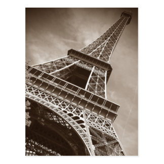 Sepia Eiffel Tower Love Romance City of Paris Postcard