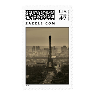 Sepia Eiffel Tower Paris Europe Travel Postage