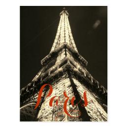 Sepia Eiffel Tower Paris France Stylish Classical Postcard