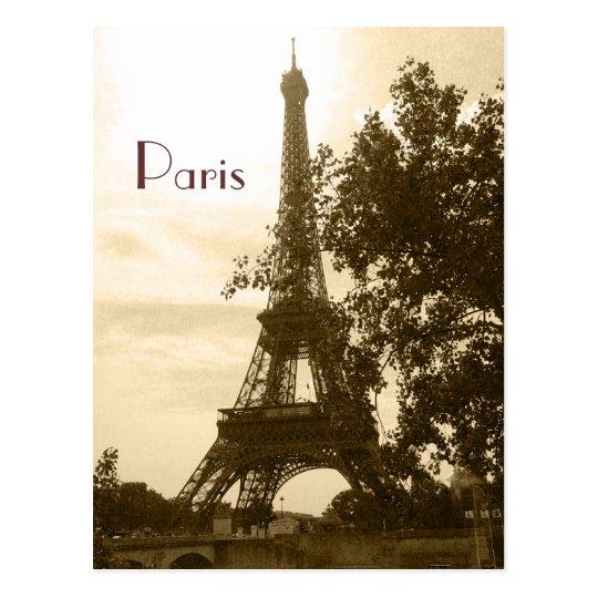 Sepia Eiffel Tower--Paris Postcard