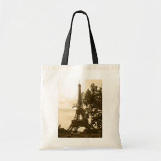 Sepia Eiffel Tower Tote Bag