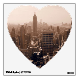 Sepia Empire State Building from Rockefeller Wall Decal
